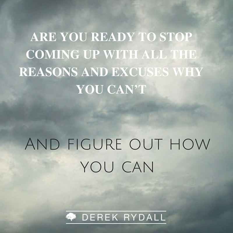 Are You ready? Derek Rydall