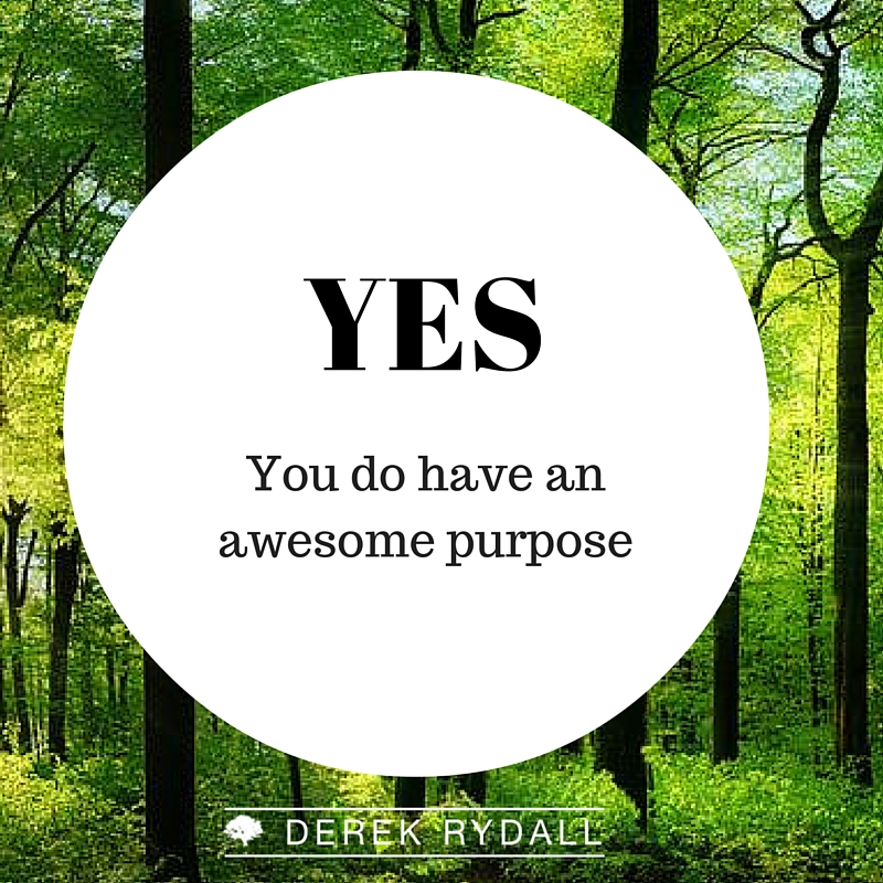 Yes you do have an awesome purpose